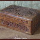WOOD BOX Decorative Jewelry Knick Knack Keepsake Storage Container 6 X 4 X 2 1/2
