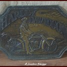 HARLEY DAVIDSON Unlicensed 1960's Brass Belt Buckle Marked The Sherman Line