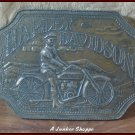 HARLEY DAVIDSON Unlicensed 1960's Brass Belt Buckle Marked Innovator Inc.