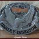HARLEY DAVIDSON Licensed 1992 Siskiyou Harmony Design Motorcycle Belt Buckle