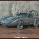 CORVETTE STINGRAY Licensed Begamot M-39 Chevrolet Car Pewter Belt Buckle 1979
