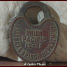 UNION PACIFIC Antique Railroad Roadway And Bridge Lock CS-21 With Chain No Key
