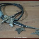 ROGER MILLER Cowboy Head Sterling Silver Bolo Neck Tie Stamped 88