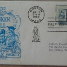BUNKER HILL 1959 Boston Society First Day Of Issue Cover 2 1/2 Cent Stamp