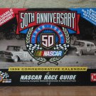 NASCAR 50th Anniversary Mini Calendar And 1998 Schedule Race Guide With Coupons