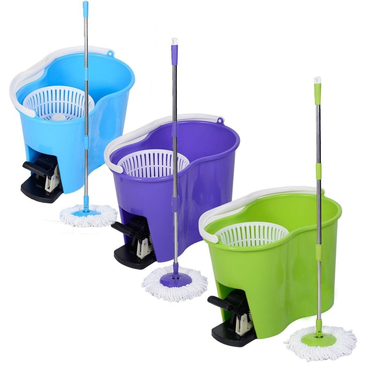 360 Degree Spin Mop and Bucket Set with FREE 2 mop