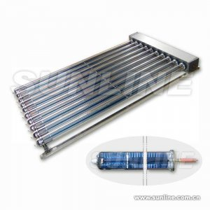 Metal-glass Evacuated Tubular Solar Collector with Heat Pipe