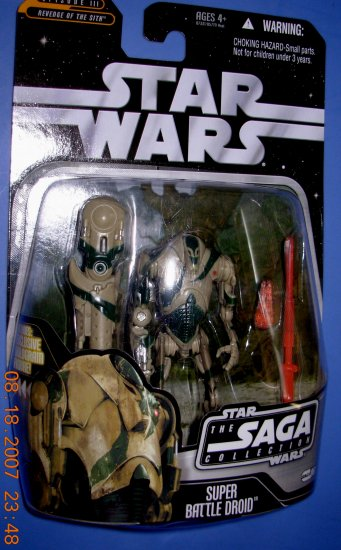 Star Wars The Saga Collection Tan Super Battle Droid new