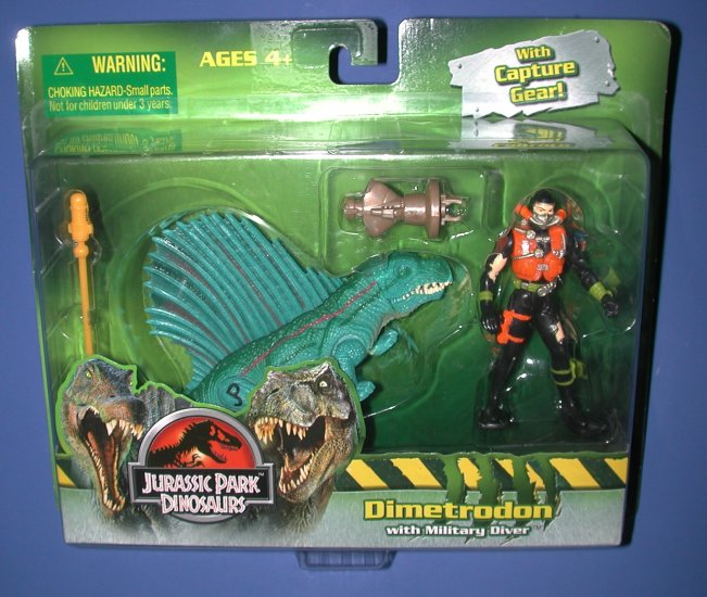 Jurassic Park Dimetron with Military Diver & Capture Gear  NEW