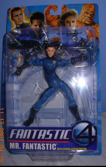 Fantastic Four Mr Fantastic W/ Spring Attack Action New