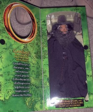 """2001 LOTR Fellowship of the Ring 12"""" Gandalf the Grey Authentically Style Fabric"""