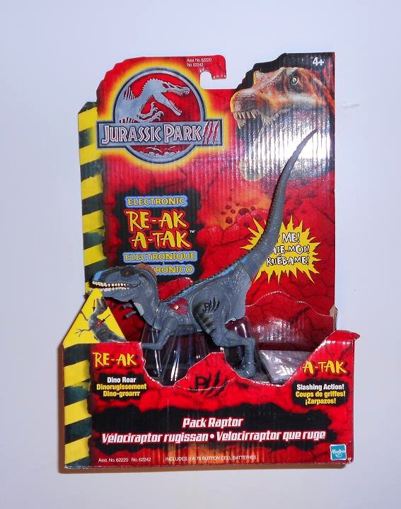 "Authentic Jurassic Park 7"" Raptor Dinosaur NEW In Box"