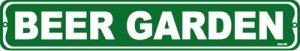 BEER GARDEN, Street Sign, metal