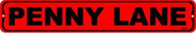PENNY LANE, Street Sign, metal