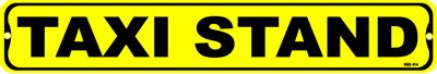 TAXI STAND, Street Signs,