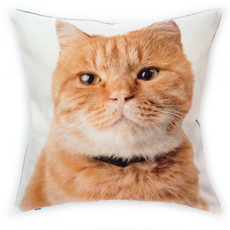 Cat Pillow Cover 18x18 Pillow Cover Cat Pillows Case Pet Pillows Throw Pillows Cushion Cover