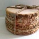 Wood Coasters Rustic Wood Coasters Tree Bark Slice Wood Slice Coasters Wooden Coasters Coaster Set