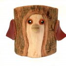 Rustic Pencil Holder Bird Bark Wood Pencil Cup Tree Bark Pen Holder Desk Organizer
