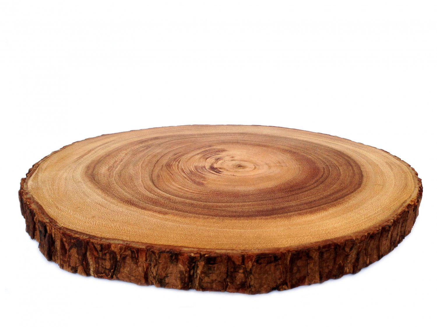 Rustic tree bark wood cutting board wood slice wood for Wood trunk slices