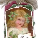 Miss Mistletoe Handmade Scrapbook Tag