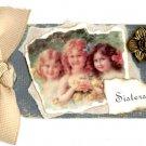 Sisters Handmade Scrapbook Tag