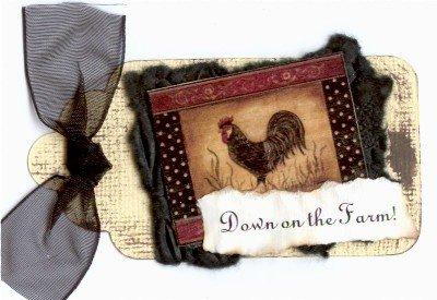 Down on the Farm Handmade Scrapbook Tag
