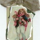 Happy Christmas Morning Handmade Scrapbook Tag