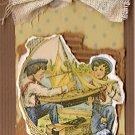 Sailing Away! Handmade Scrapbook Tag