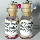 We Go Together Like PB & J! Bottle Necklace Set