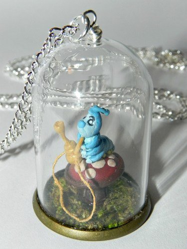 Who Are You? Caterpillar with Hookah Pipe Necklace,Bottle Necklace