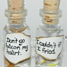 Dont Go Bacon My Heart, BFF Necklace Set,Bottle Necklace