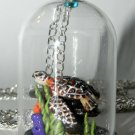 Beautiful Briny Sea, Bottle Necklace, Sea Turtle Necklace