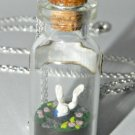 Down the Rabbit Hole, Fairy Tale Inspired, Bottle Necklace