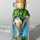 I Don't Give a Hoot! Tiny Owl in a Bottle Necklace