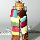 One Very Long Scarf! Bottle Necklace
