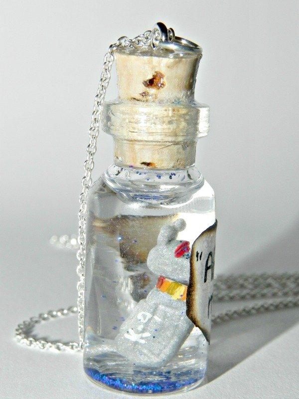 K-9 Robotic Dog Man's Best Friend Bottle Necklace