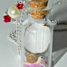 Snail Mail, Mini Snail with Love Letter,Bottle Necklace