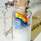A Wonderful World Necklace Bottle Necklace