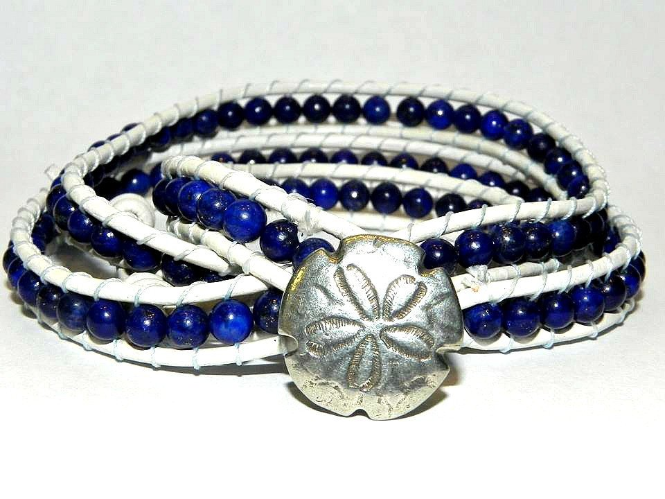 Sea Currency, Lapis Lazuli, Wrap Bracelet