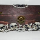 Them Bones, Card Storage Box/Jewelry Box, Hand Sculpted Skulls