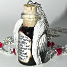 The De-Vil wears furs! Handmade, Hand Sculpted, Bottle Necklace