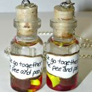 We Go Together Like Pee and Poo, Best Friends Necklace Set, Handmade, Hand Sculpted