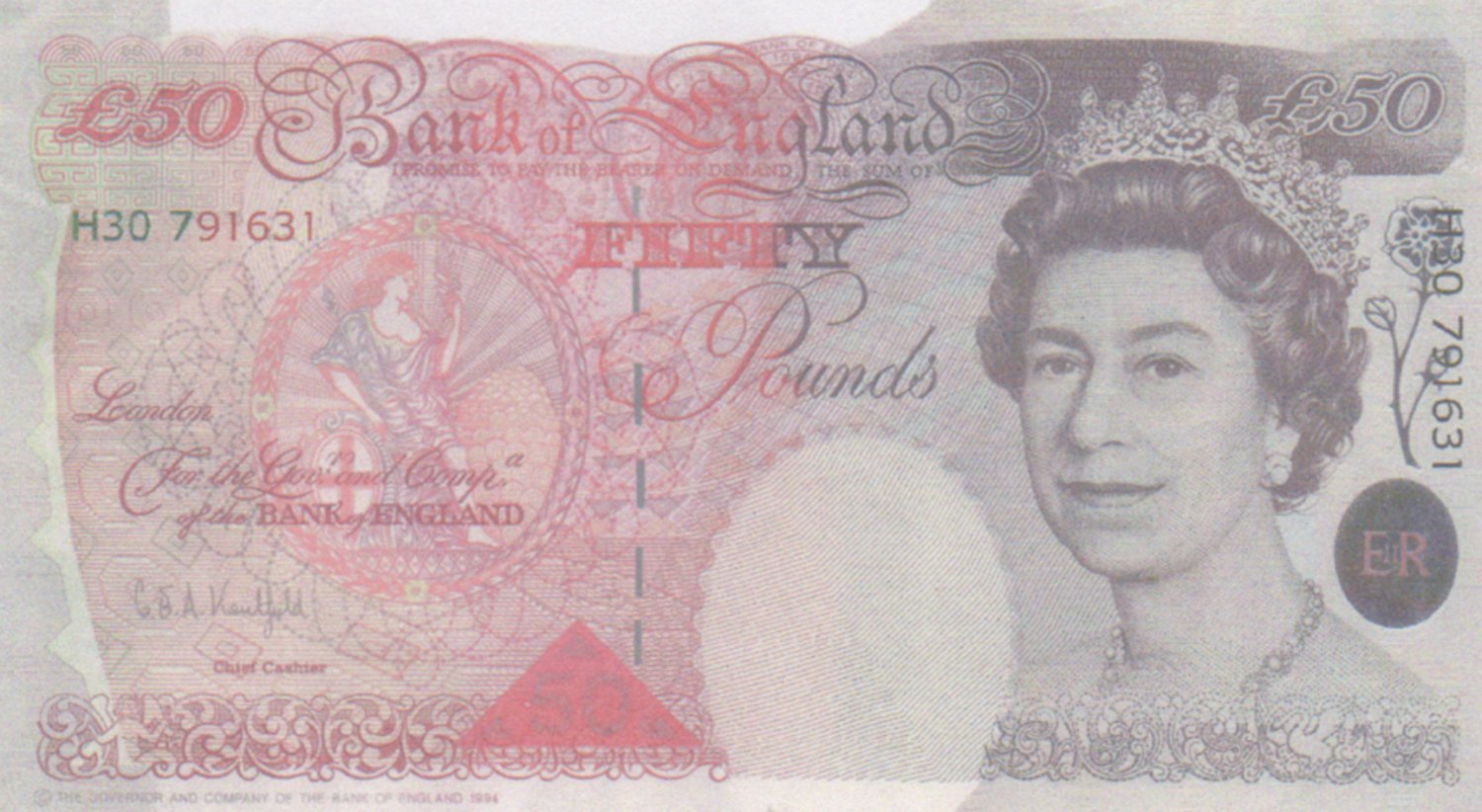 The World is Not Enough prop bank note James Bond movie