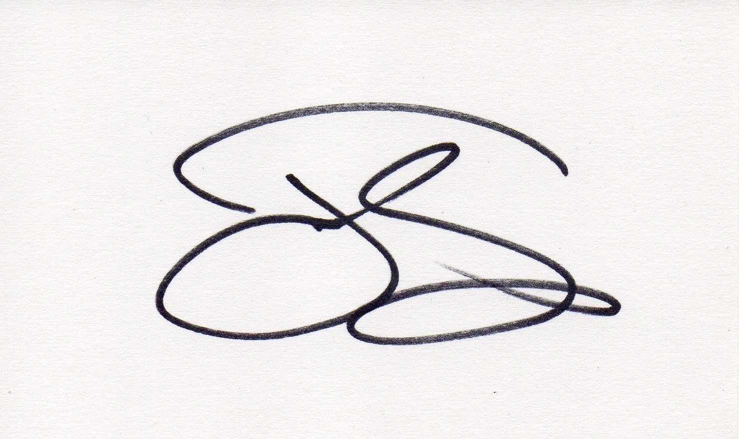 Jeff Daniels hand signed 3x5 card Dumb & Dumber Star