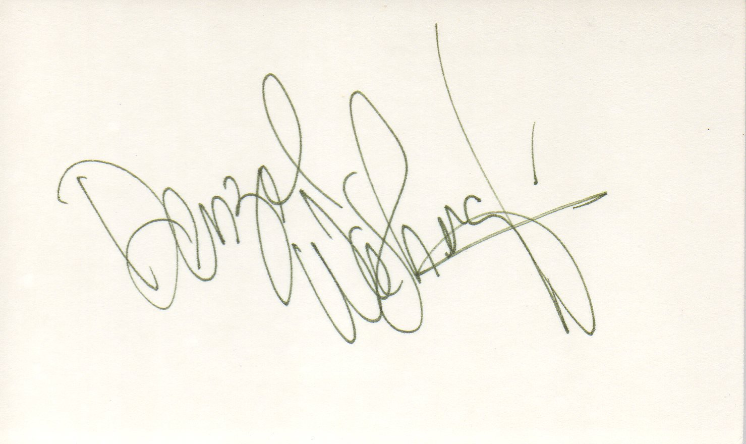 Denzel Washington hand signed 3x5 card