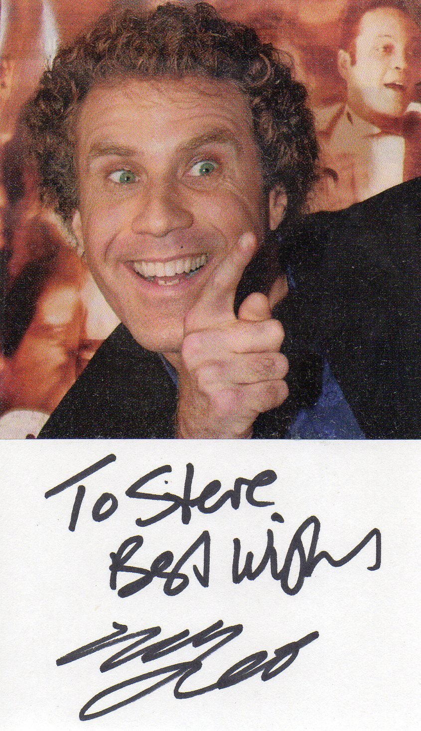 Will Ferrell hand signed 3x5 card