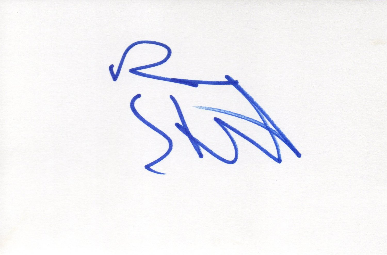 Ben Stiller hand signed 4x6 card Zoolander Dodgeball star