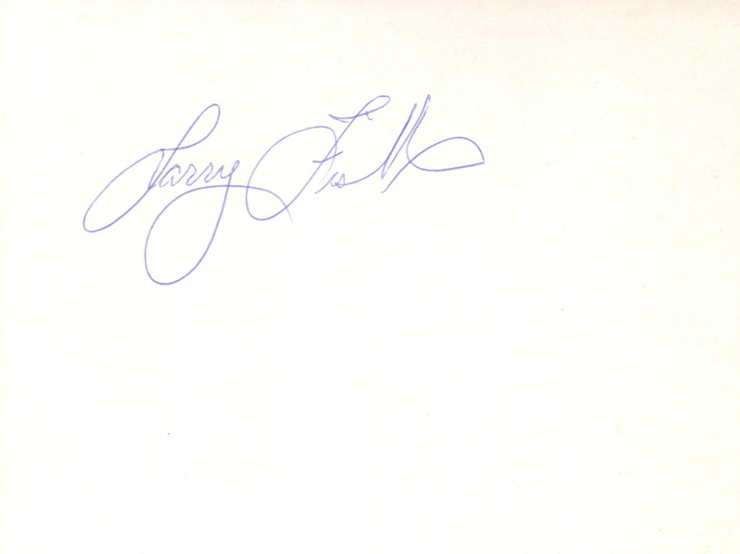 Laurence Fishburne hand signed 4x6 album page