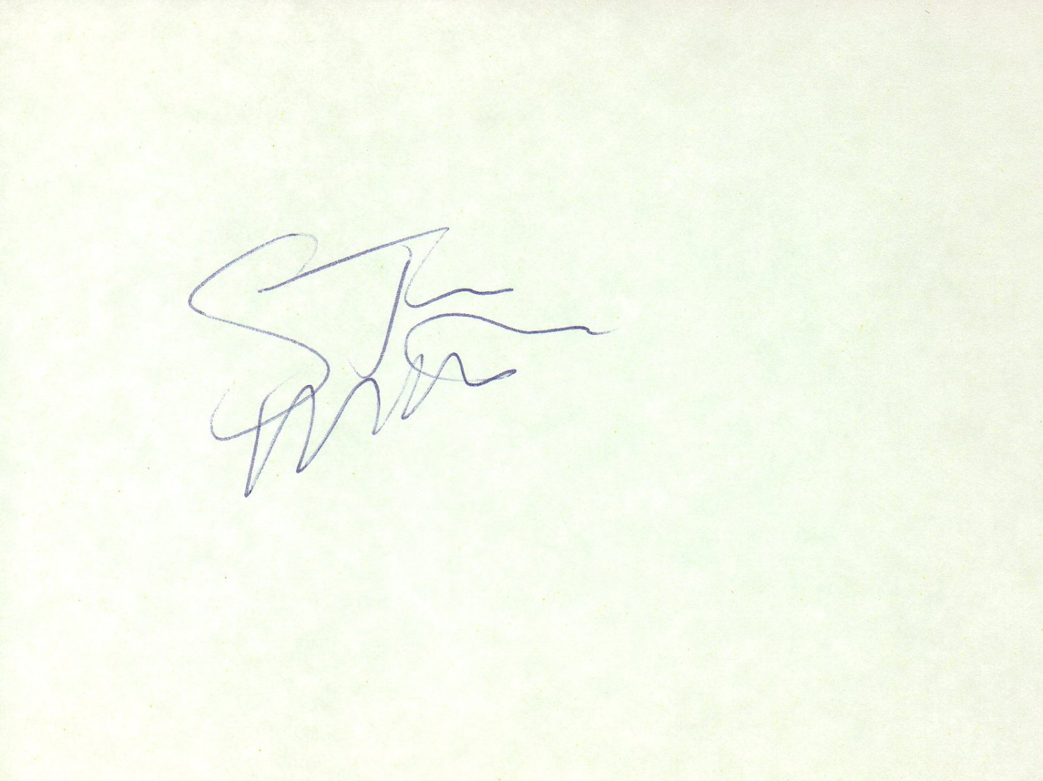 Steve Martin hand signed 4x6 album page