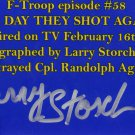 Larry Storch signed F-troop 4x6 photo as Agarn